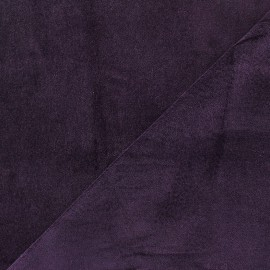 Short velvet fabric Bradford - dark purple x 10cm
