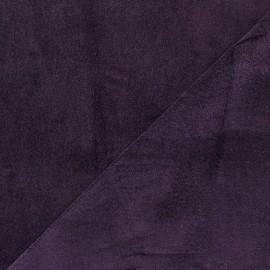 Tissu Velours ras Bradford - violet foncé x 10cm