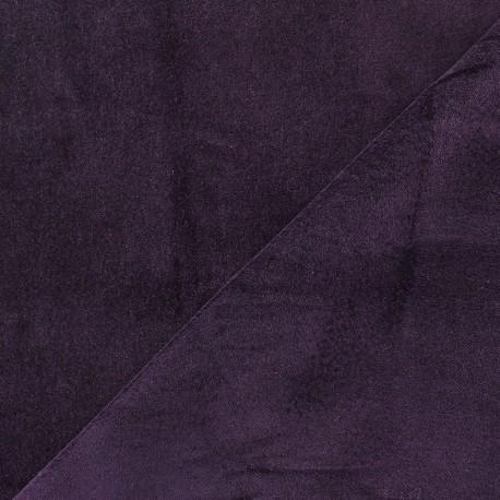 Tissu Velours ras Bradford - violet foncé x10cm