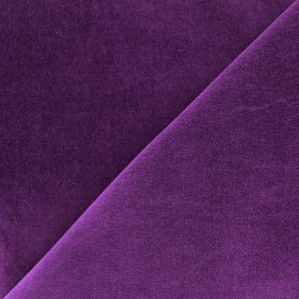 Tissu Velours ras Bradford - violet x 10cm