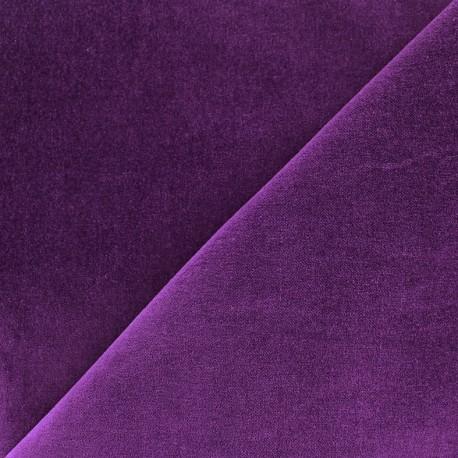 Short velvet fabric Bradford - purple x 10cm