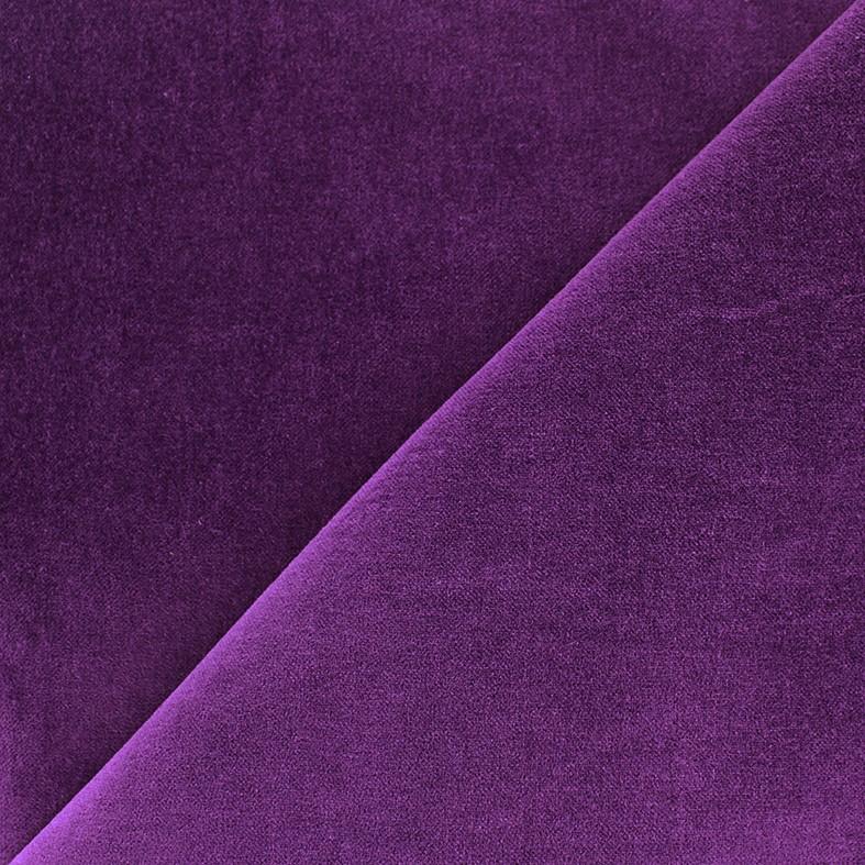 c7e641f778f1 Tissu Velours ras Bradford - violet x 10cm - Ma Petite Mercerie