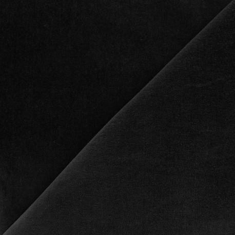 Tissu Velours ras Bradford - noir x10cm
