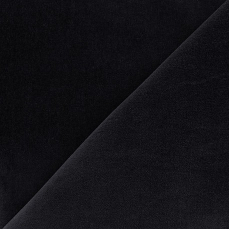 Tissu Velours ras Bradford - marine x10cm