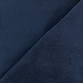 Short velvet fabric Bradford - blue x 10cm