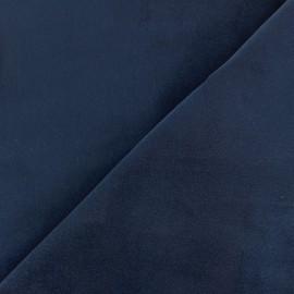 Tissu Velours ras Bradford - bleu x 10cm