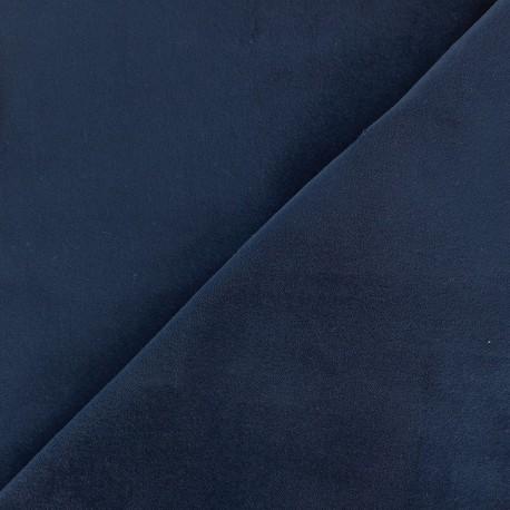 Tissu Velours ras Bradford - bleu x10cm