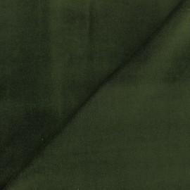 Tissu Velours ras Bradford - kaki x 10cm
