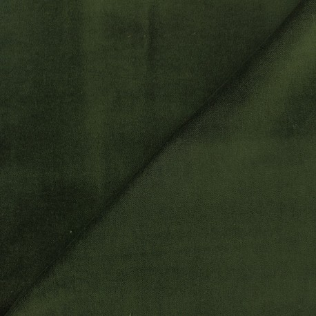 Short velvet fabric Bradford - khaki x 10cm
