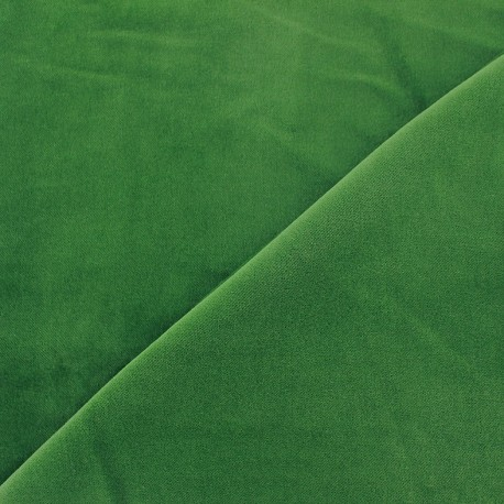 Short velvet fabric Bradford - green x 10cm
