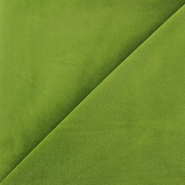 Tissu Velours ras Bradford - anis x10cm