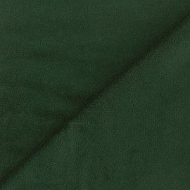 Short velvet fabric Bradford - fir green x 10cm
