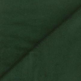 Tissu Velours ras Bradford - vert sapin x 10cm