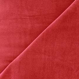 Short velvet fabric Bradford - red x 10cm