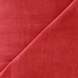 Tissu Velours ras Bradford - rouge x 10cm