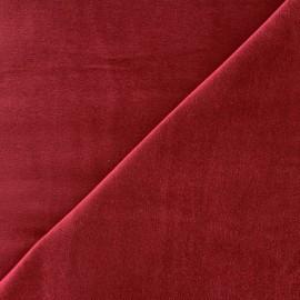 Tissu Velours ras Bradford - rouge carmin x 10cm