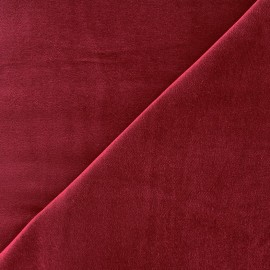 Short velvet fabric Bradford - wine x 10cm
