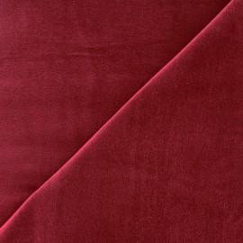 Tissu Velours ras Bradford - lie de vin x 10cm