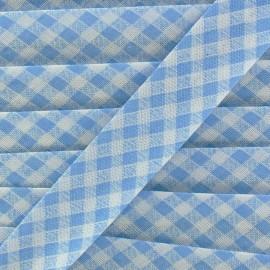 Biais Vichy bleu clair 18 mm