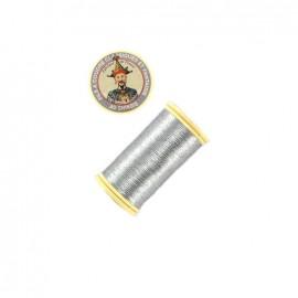 Fil polyester métallisé Au chinois n°40 - argent