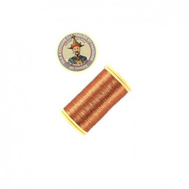 Au Chinois polyester metallized sewing thread  - copper