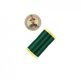 Fil polyester métallisé Au chinois n°40 - vert sapin