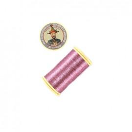 Fil polyester métallisé Au chinois n°40 - rose