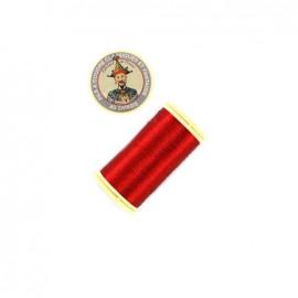 Fil polyester métallisé Au chinois n°40 - rouge