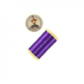 Fil polyester métallisé Au chinois n°40 - violet