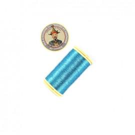 Fil polyester métallisé Au chinois n°40 - bleu océan