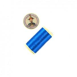 Fil polyester métallisé Au chinois n°40 - turquoise