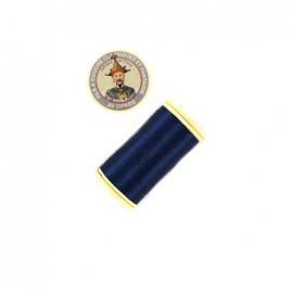 Fil polyester métallisé Au chinois n°40 - bleu marine