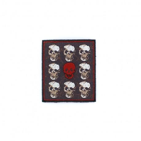 Thermocollant pirate brodé - crâne rouge