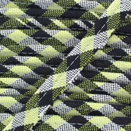 Passepoil carreaux Scottish - anis x 1m