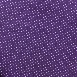Tissu coton pois 2mm - mauve/violet x 10cm