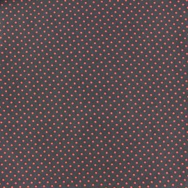 Cotton Fabric pois 2mm - orange/light brown x 10cm