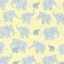 ♥ Coupon 420 cm X 110 cm ♥ Tissu Wild Adventure Eléphant - sun