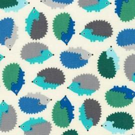 Tissu Woodland Pals 2 Hedgehog - adventure x 10cm