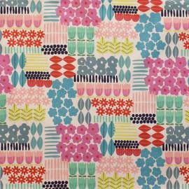 Tissu coton All mine in a line - linen tea x 30 cm