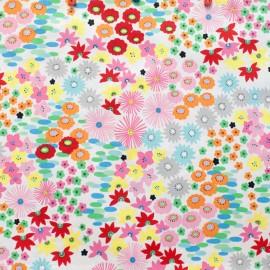 Tissu coton Darling Starling - natural/bright x 61cm