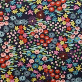 Tissu coton Darling Starling - linen navy x 61cm