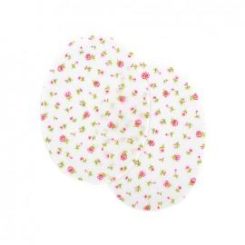 Coudières fleurs pâquerettes - rose (la paire)