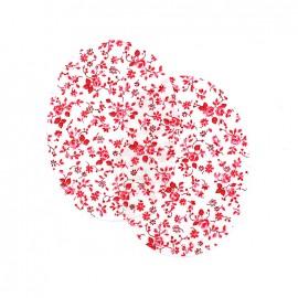 Coudières fleurs roses - fuchsia (la paire)