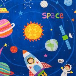 Tissu coton My space friend - royal x 59cm