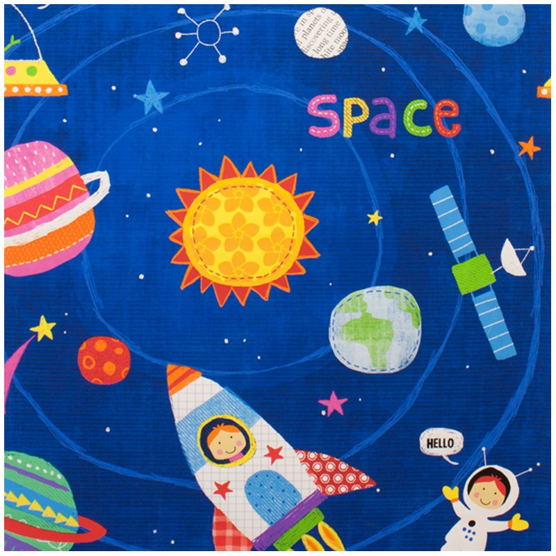 Tissus pas cher 100 coton tissu coton my space friend for Space baby fabric