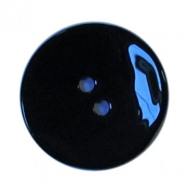 Mother-of-pearl button, rounded shaped  - black
