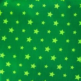 Tissu coton Stars bicolore - vert clair/vert x 10cm