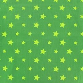Tissu coton Stars bicolore - vert clair/kaki x 10cm