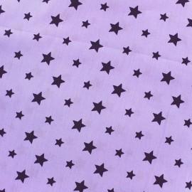 Tissu coton Stars bicolore - violet/mauve x 10cm