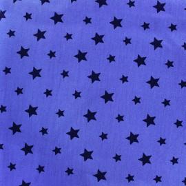 Tissu coton Stars bicolore - noir/bleuet x 10cm